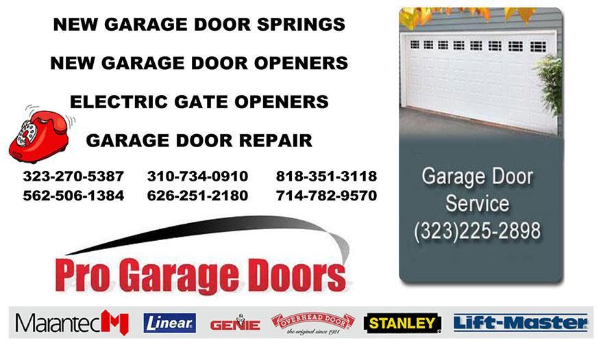 NEW GARAGE DOOR SPRINGS Long Beach